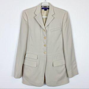 Ralph Lauren Collection Wool Blazer Cream Size 6